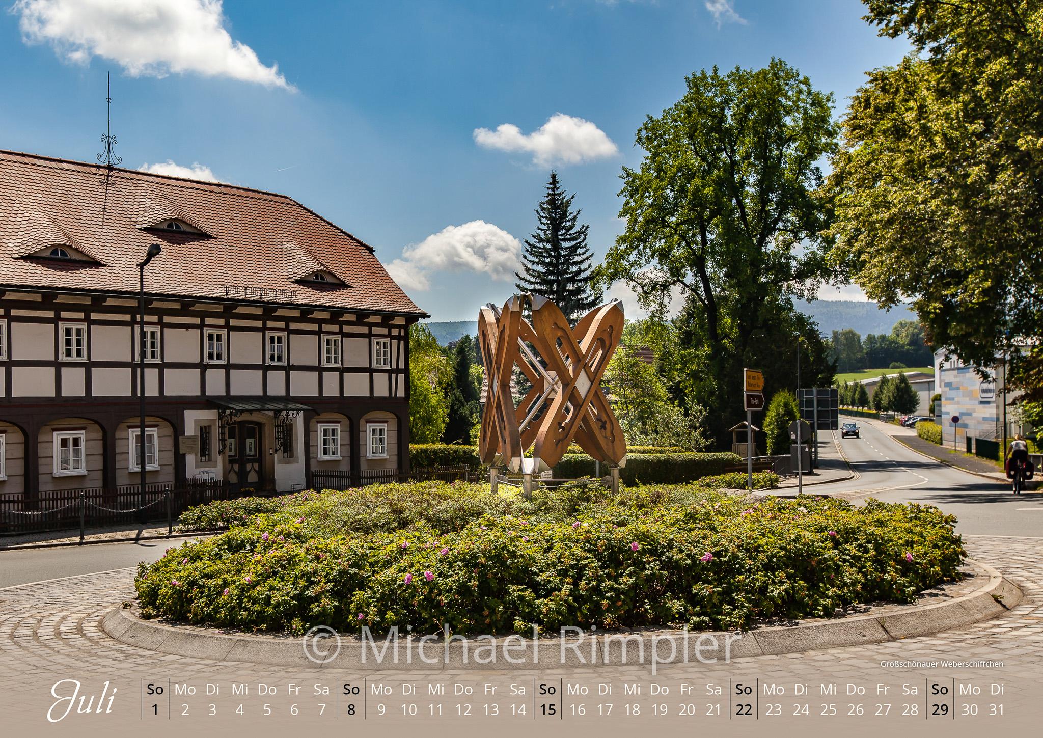 großschönau, textildorf, waltersdorf, hainewalde, kalender, oberlausitz, weberschiffchen, umgebindehaus