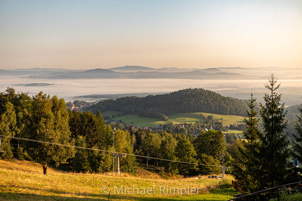 sonnenaufgang, nebel, waltersdorf, großschönau, oberlausitz, fotos, bilder