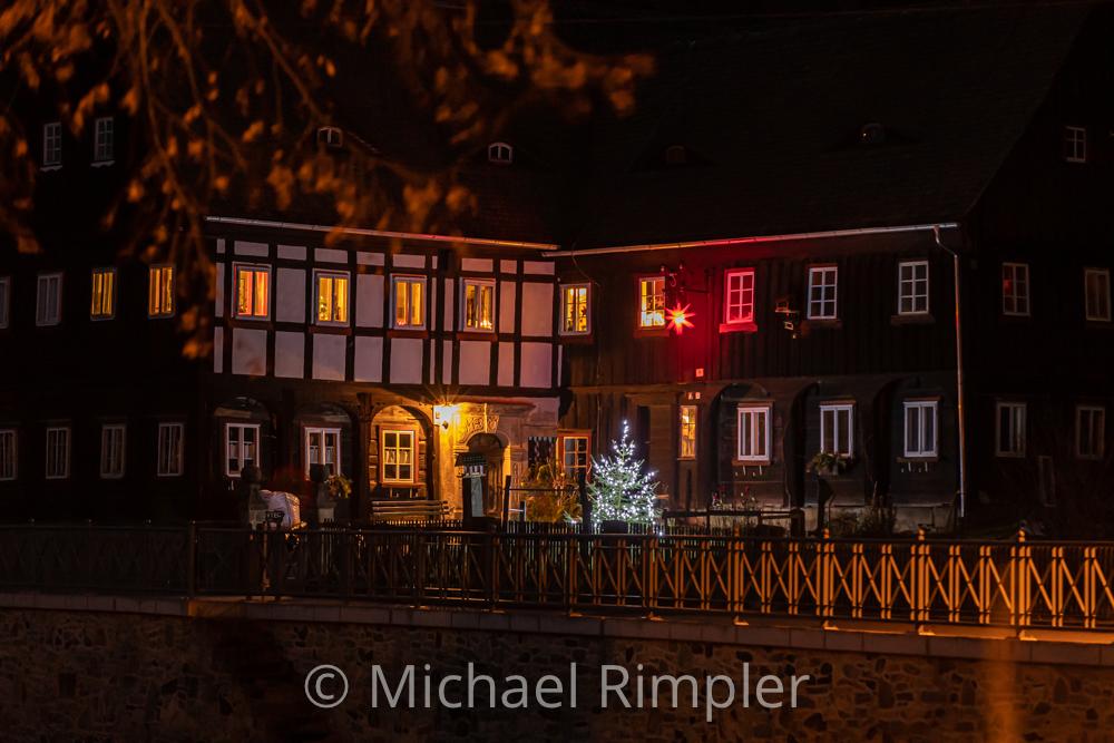 weihnachten, weihnachtsstimmung, weihnachtsbeleuchtung, umgebindehaus, großschönau, armenhaus, textildorf, naturpark, zittauergebirge, oberlausitz, fotos, bilder