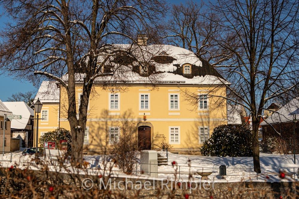 museum, ddfm, winter, schnee, textildorf, großschönau, historischer ortskern, naturpark zittauergebirge, oberlausitz, fotos, bilder