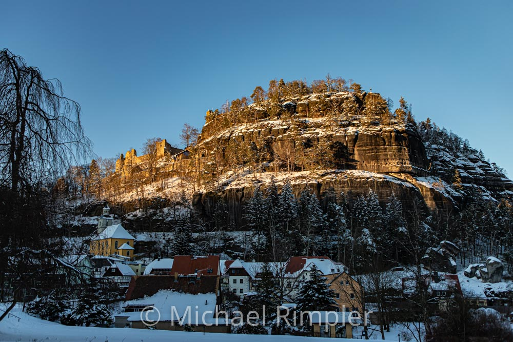 oybin, kloster berg oybin, winter, schnee, naturpark zittauergebirge, oberlausitz, fotos, bilder